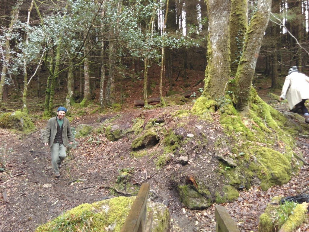 Out in the woods with the Dark Mountain Collective, Devon, March 2017