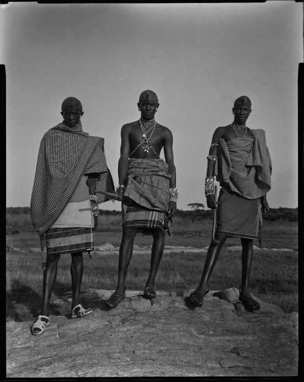 6 Samburu warriors, Kenya low res
