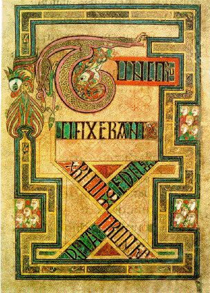 A folio from the Book of Kells.