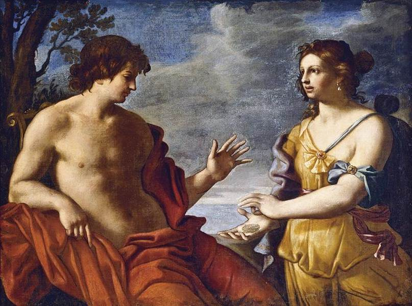 'Apollo and the Cumean Sibyl' by Giovanni Domenico Cerrini (17th century)