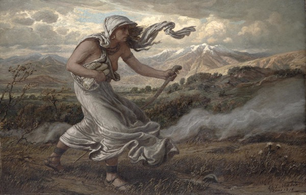 'The Sibyl of Cumae' by Elihu Vedder, bringing the Sibyilline Books to the last king of Rome